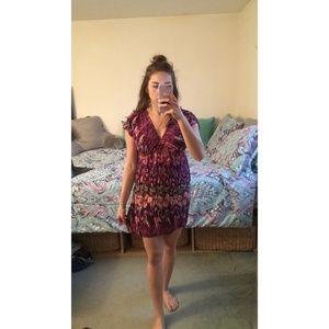 Xhilaration Pink Patterned Dress